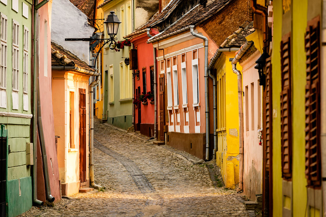 old architectural photography.  Architectural The Colourful Streets Of Sighioara In Transylvania Romania Previous And Old Architectural Photography P